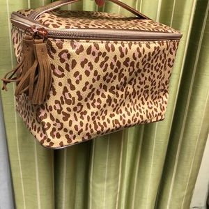 Train Case Cheetah Print